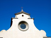 Florence _ bright sunlight of beautiful shapes of the Santo Spirito facade