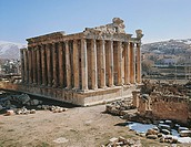 Lebanon. Baalbek (Greek Heliopolis). UNESCO World Heritage List, 1984. Temple of Bacchus