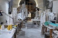 Workshop, La Sagrada Familia, Temple Expiatori de la Sagrada Familia, Basilica and Expiatory Church of the Holy Family, Barcelona, Catalonia, Spain, E...