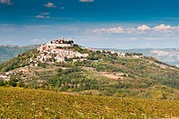 City Motovun on top of the hill on Istria peninsula in Croatia