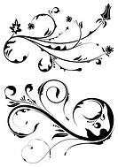 Floral scroll, element for design, vector illustration