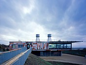 RSPB Visitor Centre Rainham, van Heyningen and Haward Architects, view from marsh, PURFLEET, NATURE RESERVE, Architect