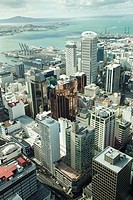 View of Auckland city from Sky tower, Auckland, North Island, New Zealand