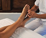 Asia, Philippines, traditional filipino leg and foot massage                                                                                          ...