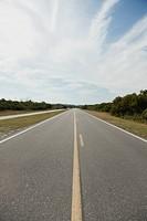 Deserted stretch of highway