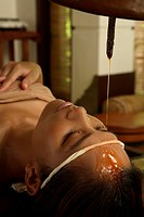 India, Shirodhara Ayurvedic oil treatment shirodara                                                                                                   ...