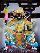 China, Anhui, Yixian, Hongcun, Zilu temple, Buddha statue ...