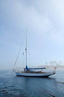 Sailboat at anchor, Port Townsend, Washington, USA