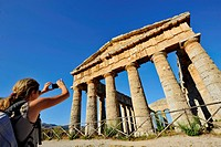 Italy, Sicily, Segesta, the Greek Temple ruins                                                                                                        ...