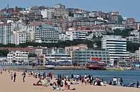 South Korea, Busan, Haeundae Beach ...