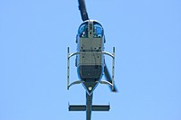 Hubschrauber von unten