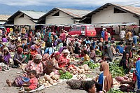 Market of Wamena, Baliem Valley, West Papua, Indonesia                                                                                                ...