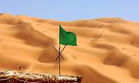 Die Flagge des Propheten in der Wüste, Libyen