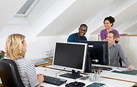 People working together in office