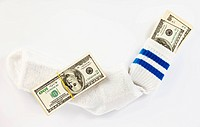 Dollar stock in a sock