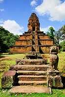 Baksei Chamkrong, 10th century Hindu pyramid temple in Cambodia, Siem Reap province.