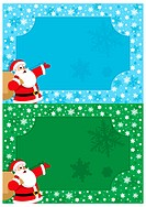 Christmas Frame in two versions – blue and green. No transparency and gradients used.