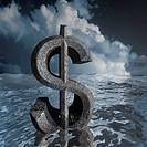 Dollar sign drowning