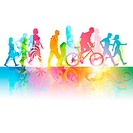 Various Modern People _ vector Illustration. EPS10 file uses transparencies