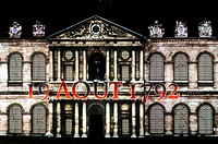 'La Nuit aux Invalides', sound and light show set in the open air in the main courtyard of the h&#244;tel des Invalides, on about 250 metres of facades, il...