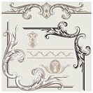Classic decoration border elements, editable vector illustration