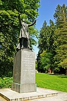 Lord Stanley Statue, Stanley Park, Vancouver, British Columbia, Canada