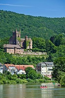 Mittelburg Castle, Neckarsteinach, Neckar Valley-Odenwald nature park, Hesse, Germany, Europe