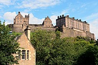 Edinburgh Castle, Scotland, from King´s Stables Road.