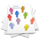 Human resources people hires or temps on a business letter page