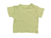 Baby boy green t_shirt isolated on white background with clipping path