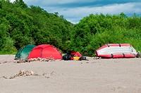 Lager auf der Insel