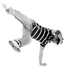 a young asian breakdancer showing his skills