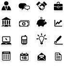Original vector illustration: business and communication icon set