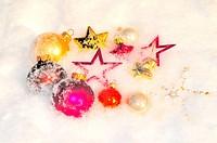 Weihnachten Schnee Weihnachtskugeln