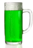 Green Beer mug isolated on white