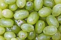 Fresh green grapes background