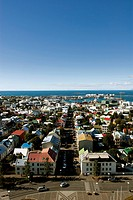 Aerial view of the city of Reykjavik _ Iceland