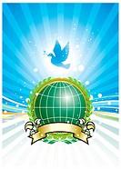 Global Environment, vector illustration layered.