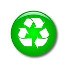 Illustration of a Recycle button on a white background