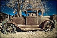 Vehicle retired and abandoned in Bishop, California