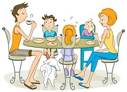 Family Meal _ Vector