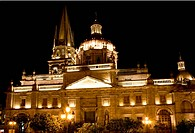 Cathedral of Guadalajara Mexico at NightResubmit__In response to comments from reviewer have further processed image to reduce noise and sharpen focus...