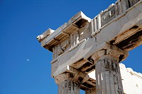 Detail of Columns at the Parthenon, Acropolis, Athens, Greece
