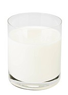 Glass of milk isolated on white background