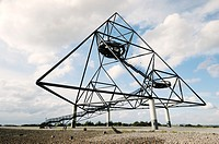 Das Tetraeder, Large tetrahedron sculpture with viewing platforms on old coalmining spoil heap at Bottrop, Ruhr Valley, Germany
