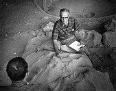 1926_2011. American archaeologist, at the Step House Wetherill Mesa, at Mesa Verde National Park in Colorado. Photograph by Fred Mang, Jr., for the Na...
