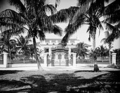 Whitehall, the residence of Henry Flagler in Palm Beach, Florida. Photograph by William Henry Jackson, c1902.