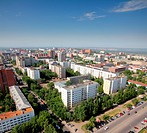 top view on the panorama of city _ Ufa Russia