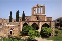 Gothic Bellapais Abbey near Girne, Keryneia, Kyrenia, built in 1205, North Cyprus, Cyprus