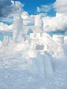 Eine Burg aus Schnee